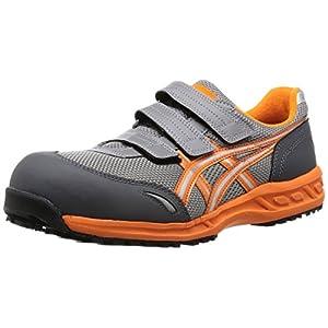 [アシックスワーキング] 安全靴 作業靴 ワーキングシューズ ウィンジョブ FIS41L グレー/オレンジ26.5 cm
