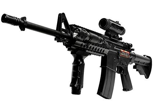 UP STORE 電動ガン 電動連射式 エアガン コルト M4A1 モデル アサルトライフル 害獣対策 バイオBB弾2000発付 18歳以上