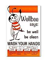 Wellbee Wash Your Hands冷蔵庫マグネット