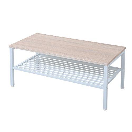 JKプラン Oliveシリーズ センターテーブル ホワイトナチュラル ZYR-0001-WHNA
