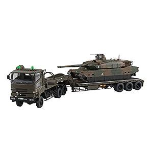 青島文化教材社 1/72 ミリタリーモデルキットシリーズ No.16 陸上自衛隊 10式戦車 73式特大型セミトレーラー付属 プラモデル
