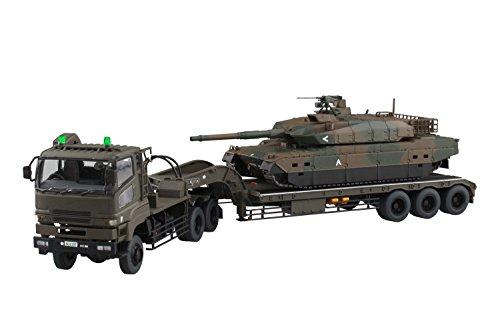 ミリタリーNo.16 1/72 陸上自衛隊 10式戦車 73式特大型セミトレーラー付属
