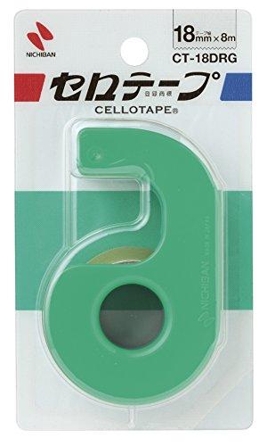 セロテープ 小巻 テープカッター 18mm CT18DRG-10P 10個入 グリーン