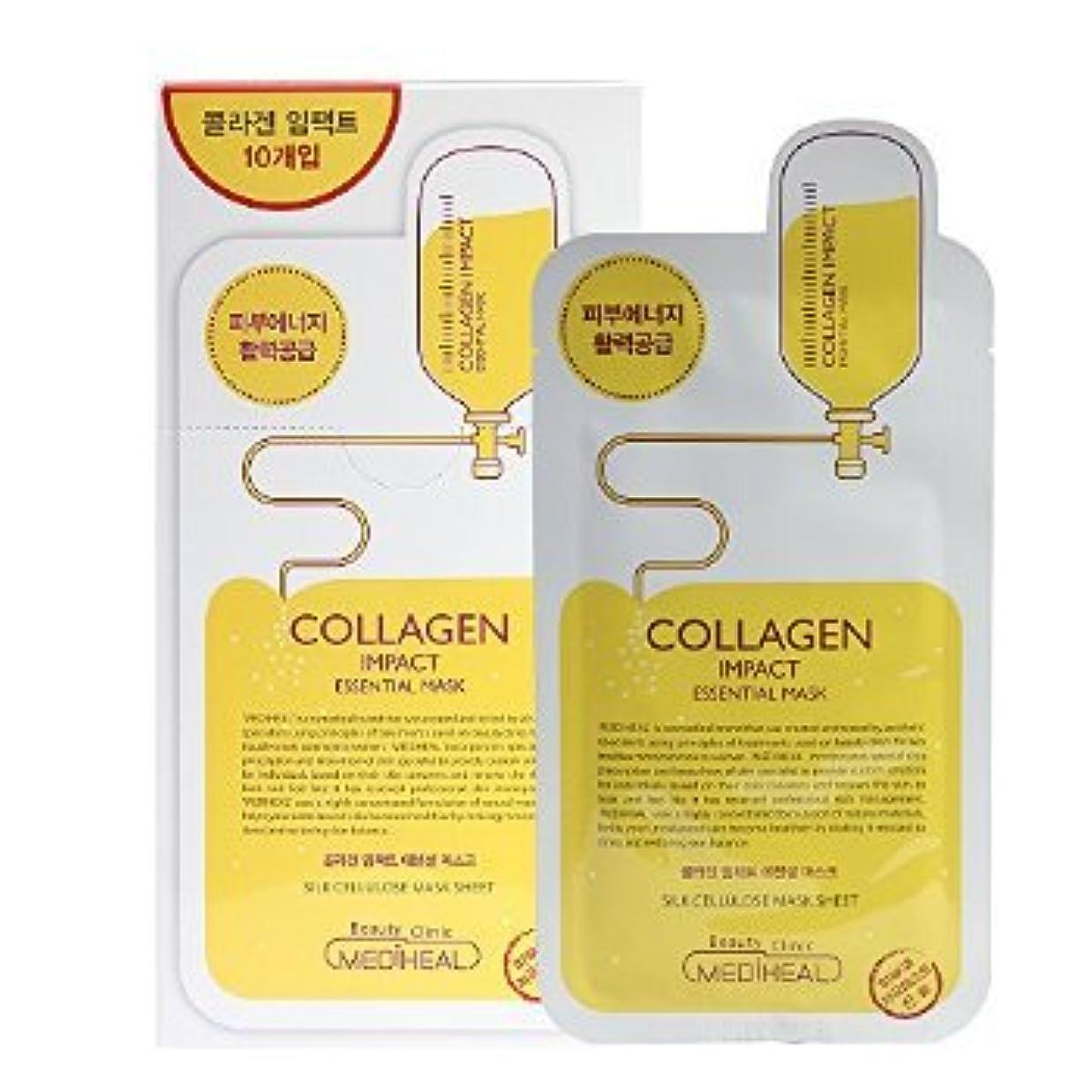 ふりをする減少海Korea Mediheal Collagen Impact Essential Mask Pack 1box 10sheet