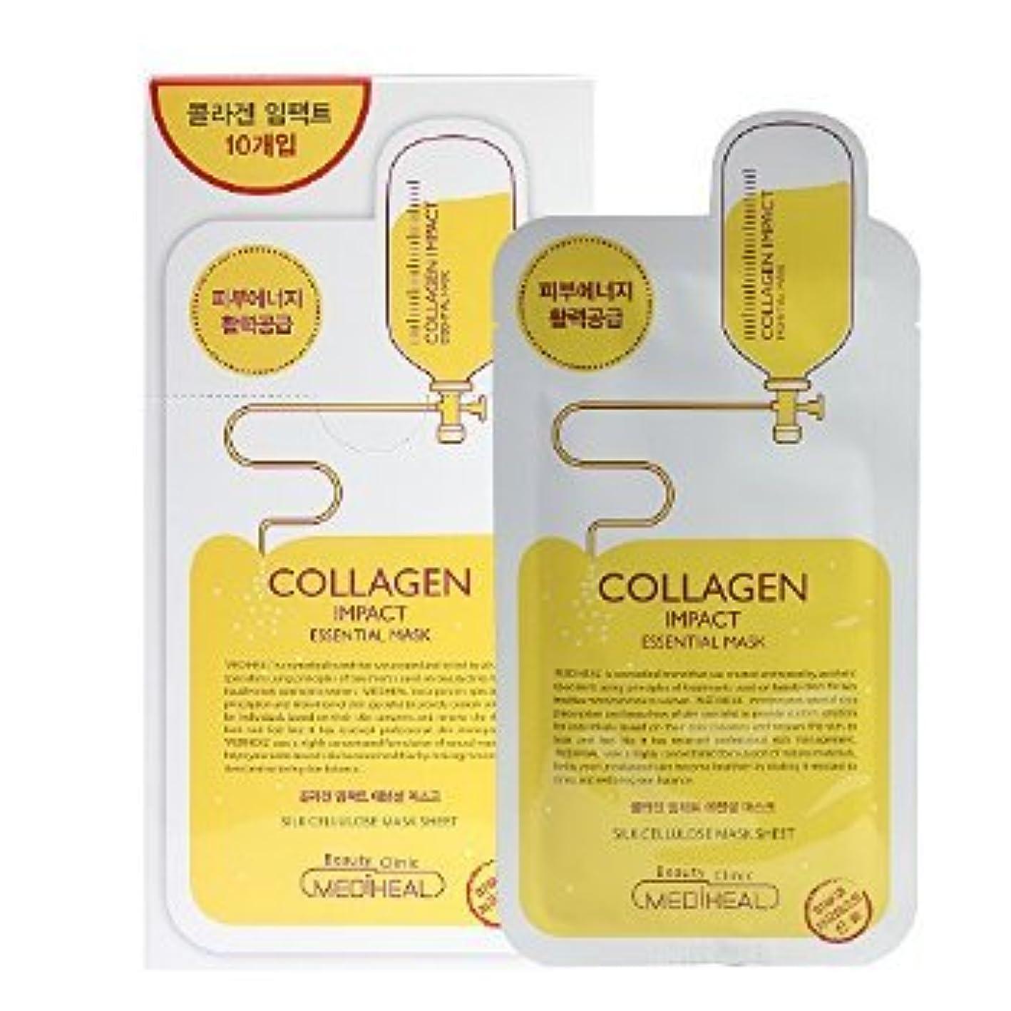疎外する確認するプレビューKorea Mediheal Collagen Impact Essential Mask Pack 1box 10sheet