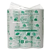 業務用トイレットペーパー エコロ 110m*18R(シングル)