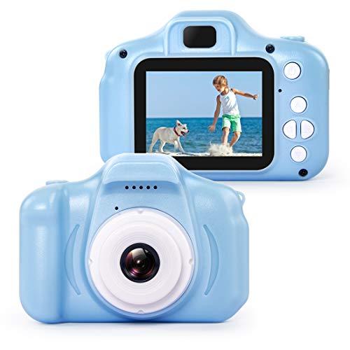 hyleton 子供用 デジタルカメラ トイカメラ 子供プレゼント 子供カメラ 500万画素 2.0インチ 多機能 USB充電 日本語説明書付き 子供の日 誕生日 知育 教育 男女兼用(16GSDカート付き) (ブルー)