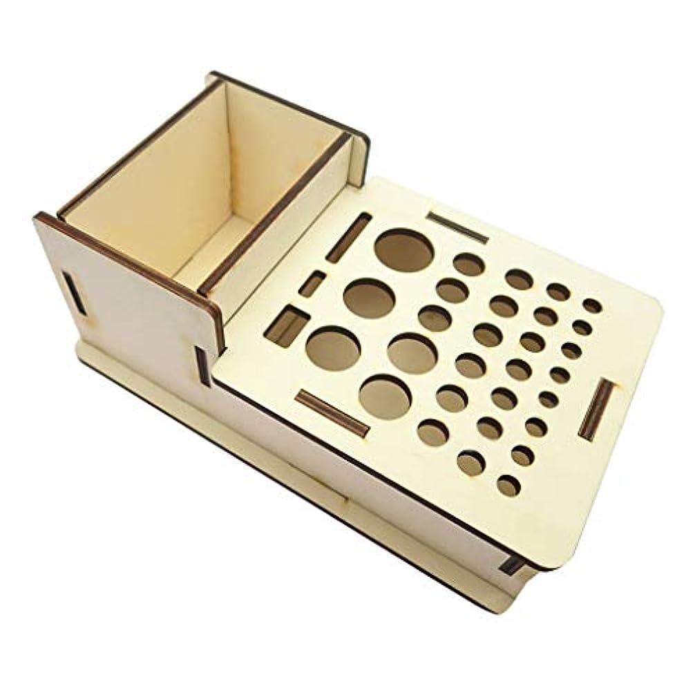 事業カスケード呼び起こすレザークラフト 革細工 ツール 収納ホルダー 整理ラック スタンド DIY 工芸 用具保管 木製 穿孔