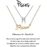 Cyberny Zodiac Constellations Necklace Jewelry Birthday Gifts Message Card Women