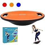 Sukudonバランスボード 体幹 トレーニング 滑り止め 持ち運びやすい 円形 直径40cm (オレンジ)