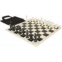 マスターシリーズ持ち運び簡単チェスセットパッケージブラック&アイボリーPieces – ブラック
