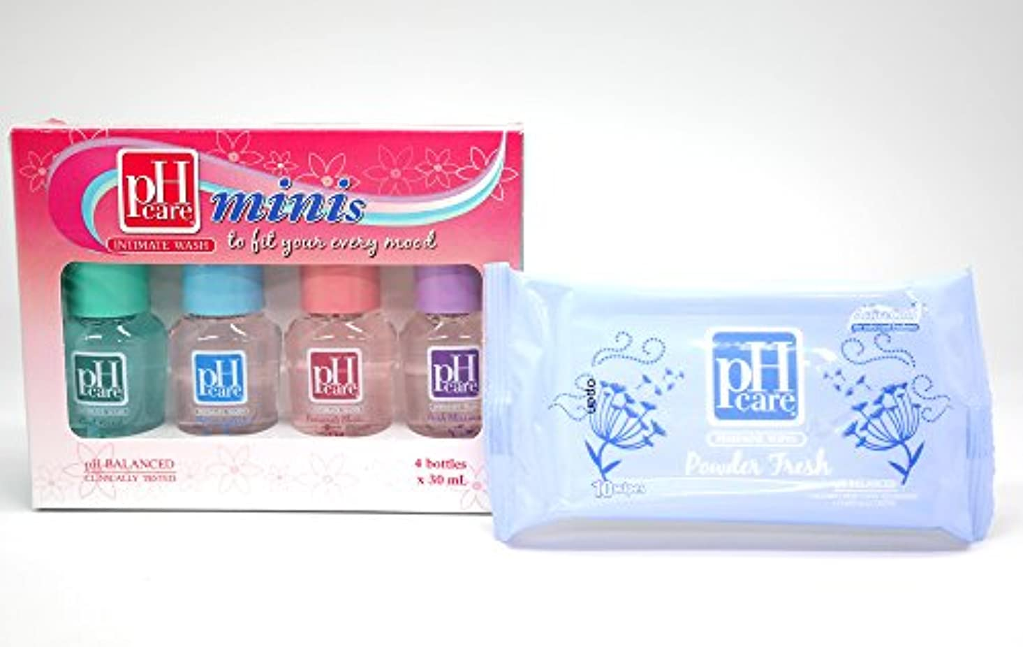疫病ポスト印象派買収(ピーエイチケア)pHcare フェミニンウォッシュ (ミニボトル4本 + シート(パウダーフレッシュ))