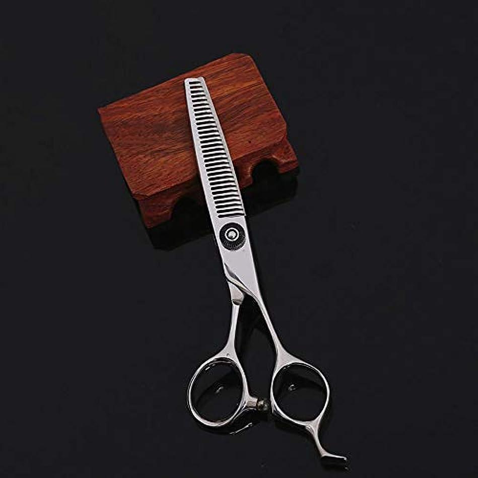作成する化石適格6インチの美容院プロフェッショナルなヘアカット間伐ヘアカットはさみ ヘアケア (色 : Silver)