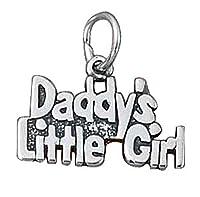 スターリングシルバー女の子0.8MMボックスチェーンDaddys Little Girl Wordペンダントネックレス