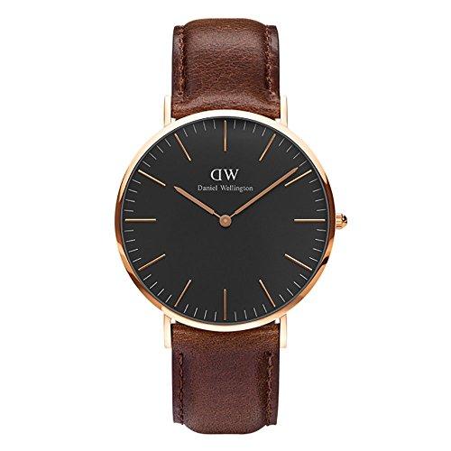 CLASSIC BLACK新品Daniel Wellington ダニエル ウェリントン BRISTOL メンズ腕時計 クラッシー 本革  腕時計 ピンクゴールド 40mm? [並行輸入品]