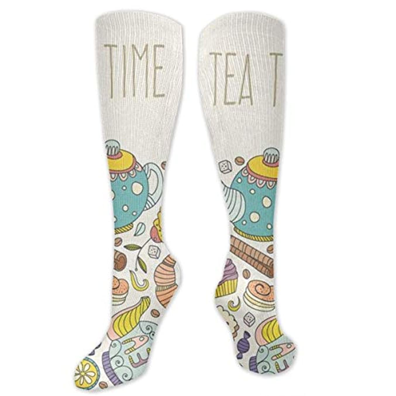 頻繁にゴールデンレイ靴下,ストッキング,野生のジョーカー,実際,秋の本質,冬必須,サマーウェア&RBXAA Tea Time Socks Women's Winter Cotton Long Tube Socks Knee High Graduated...