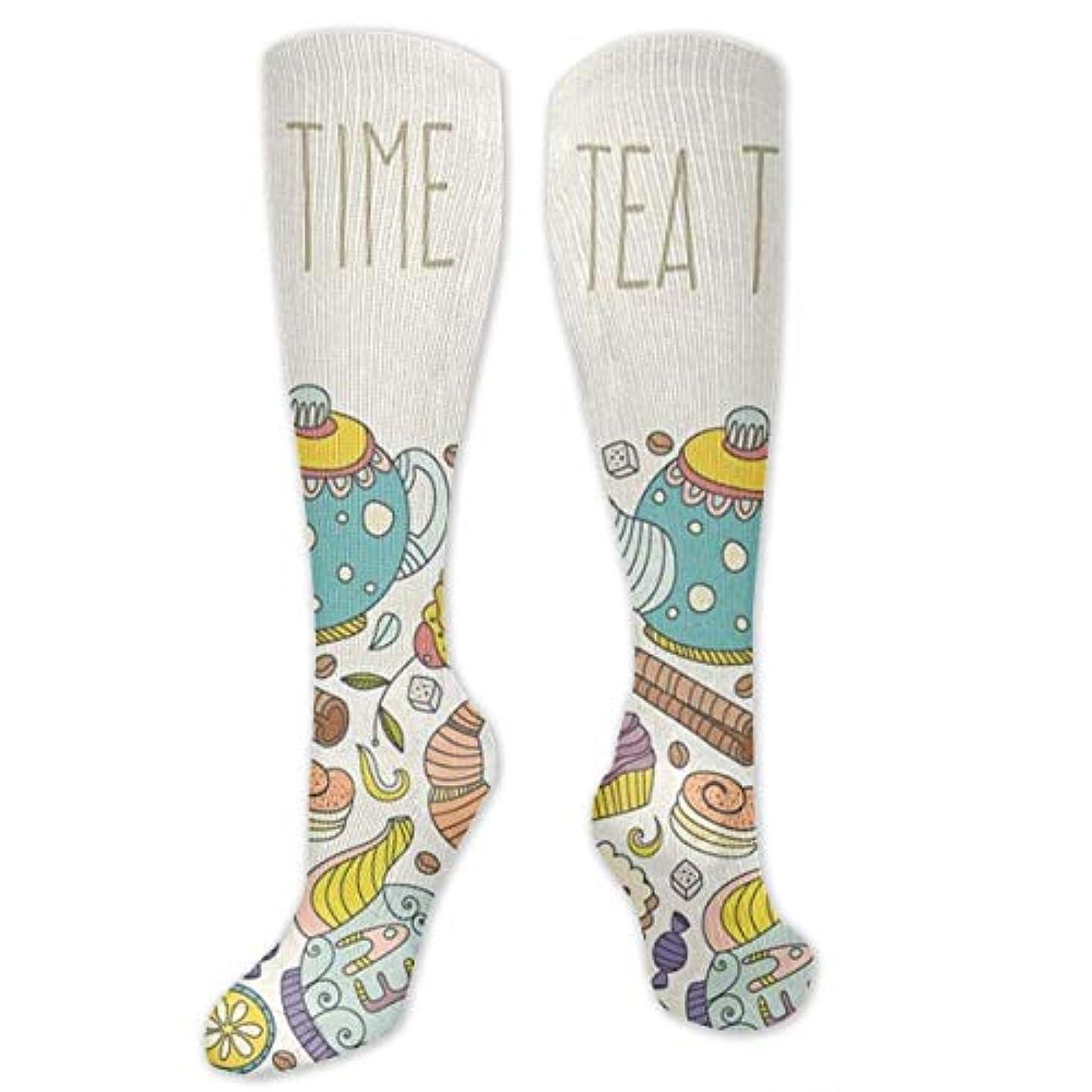 教覆す調整可能靴下,ストッキング,野生のジョーカー,実際,秋の本質,冬必須,サマーウェア&RBXAA Tea Time Socks Women's Winter Cotton Long Tube Socks Knee High Graduated...