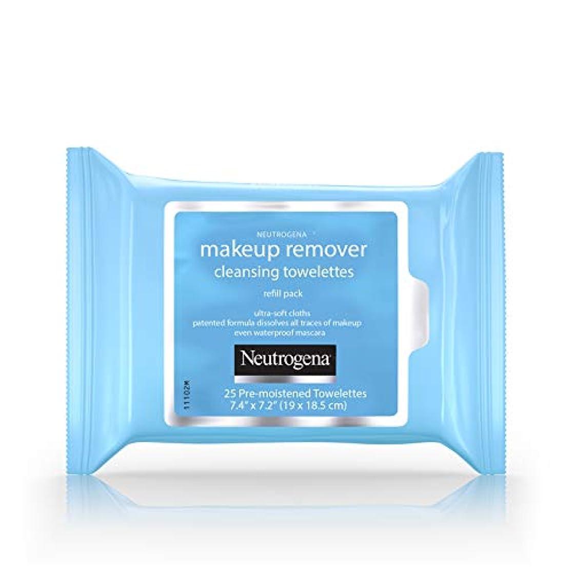 先信号誤解Neutrogena Make-up Remover Cleansing Towelettes Refill Pack 25 Pc (並行輸入品)