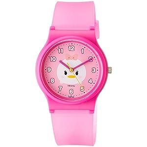 [シチズン キューアンドキュー]CITIZEN Q&Q 腕時計 ディズニー コレクション TSUMTSUM デイジーダック ウレタンベルト ピンク HW00-004 ガールズ