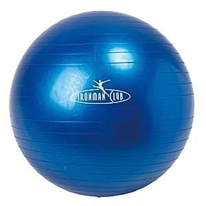 鉄人倶楽部(IRONMAN・CLUB) ヨガ ボール 65cm ブルー IMC-32 バランスボール エクササイズ 体幹トレーニング ポンプ付