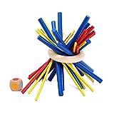 スティッキー 木製 テーブルゲーム おもちゃ 子供 家族 スティック 知育 玩具 教育 勉強 脳トレ