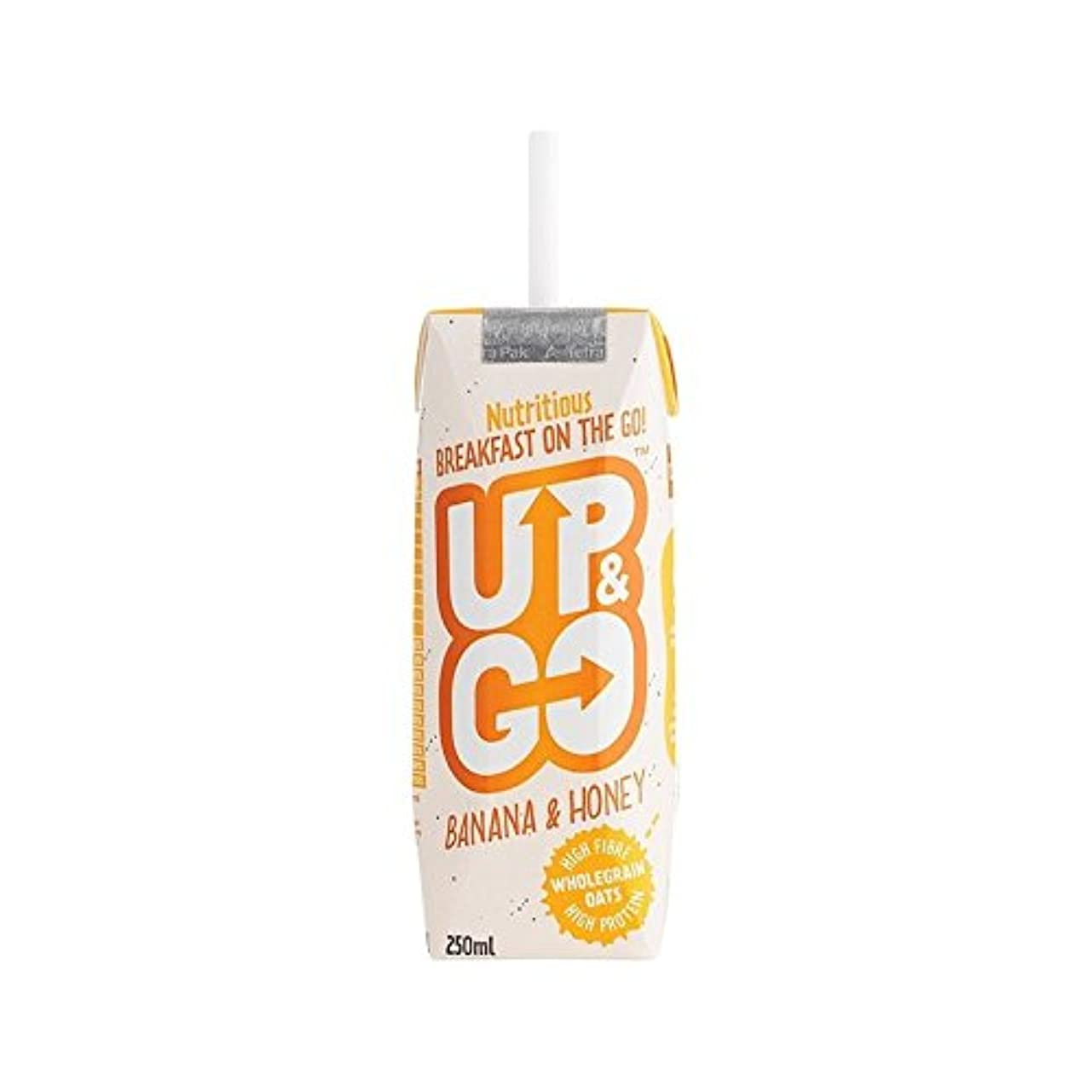 眉狂気枯渇オート麦の250ミリリットルとバナナ&ハニー朝食ドリンク (Up&Go) (x 4) - Up&Go Banana & Honey Breakfast Drink with Oats 250ml (Pack of 4)...