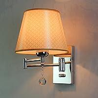 ウォールランプE27 - LEDモダンなファンシーランプベッドルームのベッドサイドランプ伸縮スイッチは、長いホースロッカーウォールランプを読んで (色 : H h)