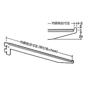 ロイヤル ガラス板用 棚受 B-110 クローム 【250mm】 1本売