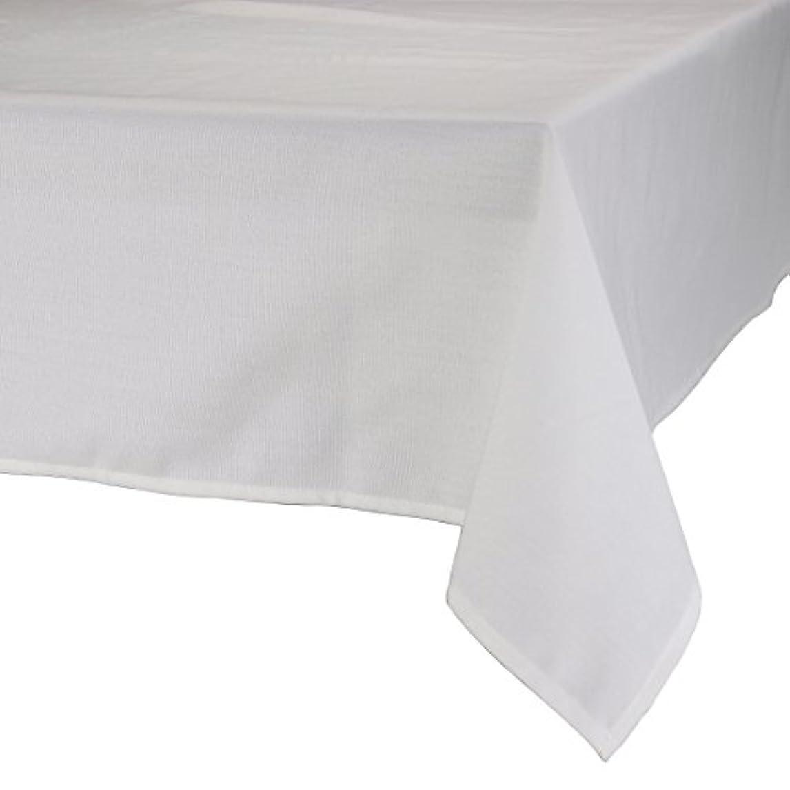 適合する急降下リネンMAJEST(マジェスト) テーブルクロス 長方形160cmx240cm 布地 ホワイト 無地 繋なし 吸水タイプ