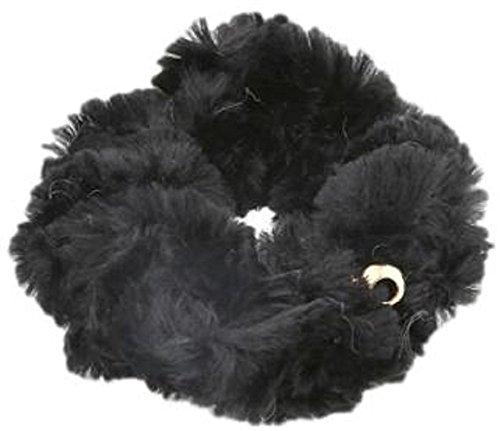(Ree & Mee) scrunchy hair band fur Hair Heaakuse hair arrange Fluffy hair accessories 2Way with metal ball