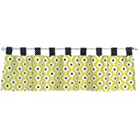 Trend Lab Waverly Rise and Shine Window Valance, Black/White by Trend Lab