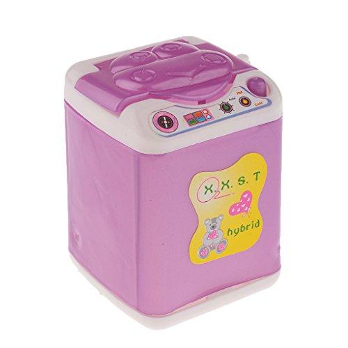 ドール用 人形用 ドールハウス用 洗濯機 ホワイトとパープル...
