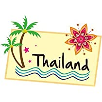 トラベルステッカー タイランド THAILAND 旅行シール~スーツケース・タブレットPCに