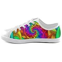 (ArtsAdd)キャンバス シューズ Canvas キッズシューズ Shoes(Model007) 靴 レインボー