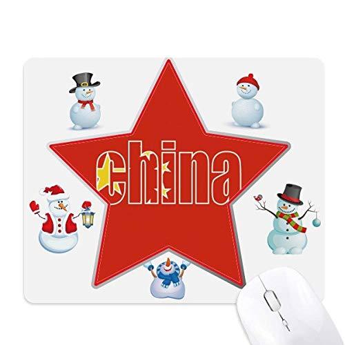 中国地方の旗の名前 クリスマス・雪人家族ゴムのマウスパッド...