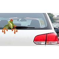 【ノーブランド品】3D効果 ピープカエル 面白い 車のステッカー トラックウィンドウデカール グラフィックステッカー