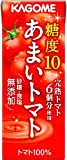 カゴメ あまいトマト 200ml紙パック 24本入×4 まとめ買い