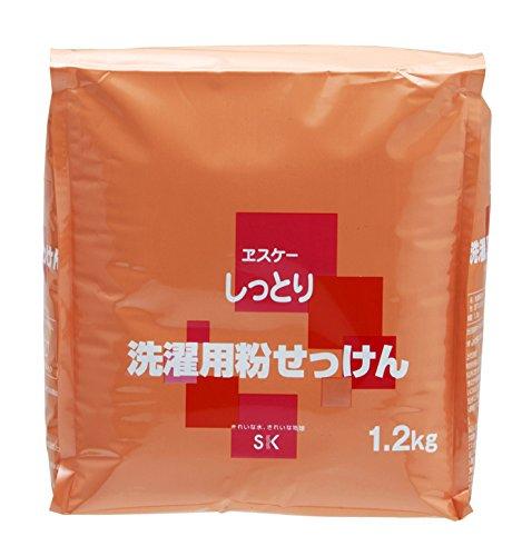 エスケー石鹸 しっとりシリーズ 洗濯用粉石鹸詰め替え(1.2kg)