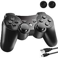 PS3 ワイヤレスコントローラ 無線 ゲームパッド PS3 ハンドル 6軸センサー 人間工学 PlayStation 3…