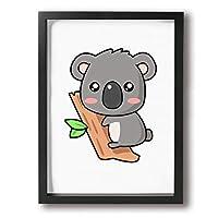 Hec 絵 絵画 アートパネル 壁掛け コアラ アートポスター壁絵 アートフレーム 部屋飾り 背景絵画 壁アート インテリア 玄関 木枠付き 装飾 軽く お洒落 30*40cm