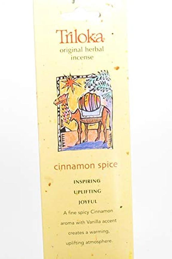 操作記念碑的な輪郭Cinnamon Spice – Triloka元Herbal Incense Sticks
