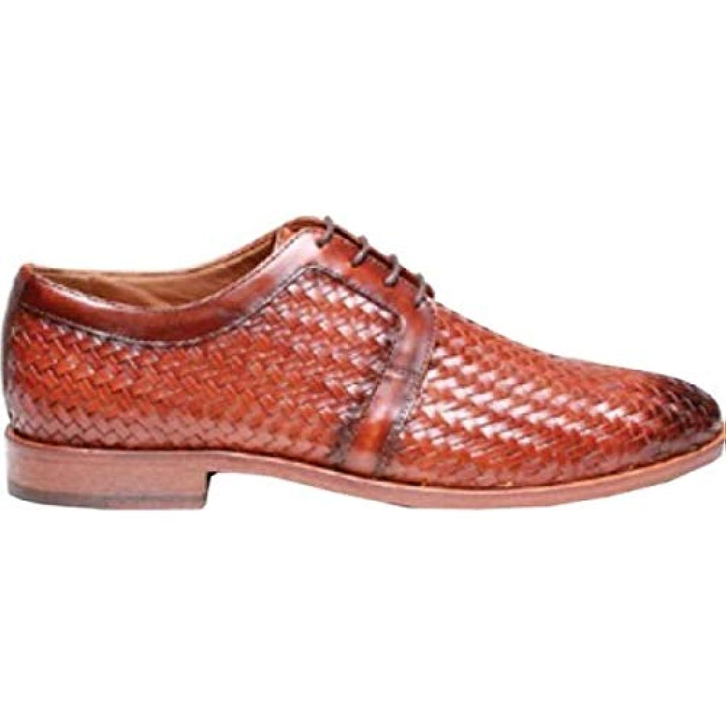 ウォルターカニンガム適度なダイアクリティカル(ロバート タルボット) Robert Talbott メンズ シューズ?靴 革靴?ビジネスシューズ Bolinas Woven Derby [並行輸入品]