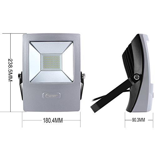 HonestEast LED投光器 50W 薄型 防犯ライト 防雨形 スタンド ライト 6000K 昼光色 屋外防水  看板灯 集魚灯 作業灯