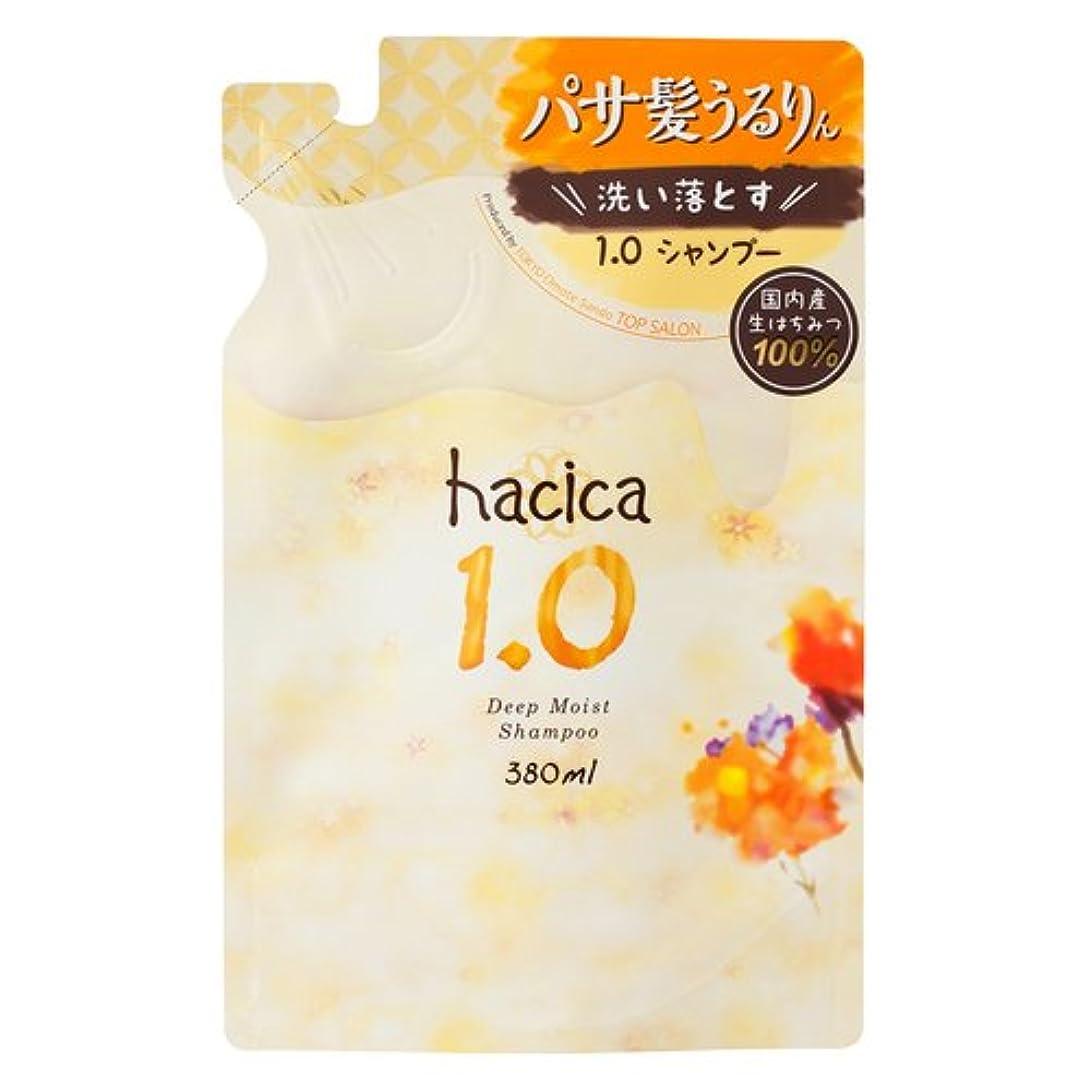 梨批判的被害者ハチカ ディープモイスト シャンプー1.0 詰替 380ml
