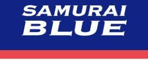 リボンピンバッジ サッカー日本代表「SAMURAI BLUE」