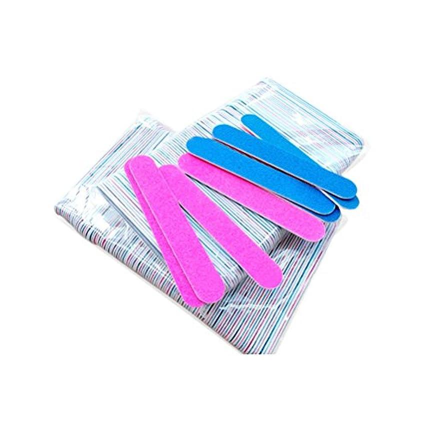 ストレスの多いハーフ役立つMakeupAcc 爪ヤスリ 使い捨て爪ヤスリ 両面仕上げ サンドペーパー ネイルケア 爪磨き 100本 [並行輸入品]