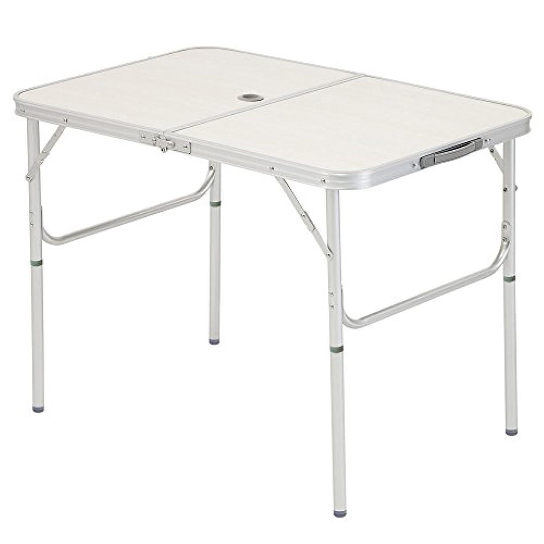 年齢反発するエンティティBUNDOK(バンドック) アルミ フォールディング テーブル Sサイズ 2WAY BD-240 【3~4人用】 折りたたみ式 軽量 コンパクト アウトドア