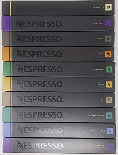 NESPRESSO ネスプレッソ  カプセル コーヒー人気10種×10カプセル×=100カプセル並行輸入品