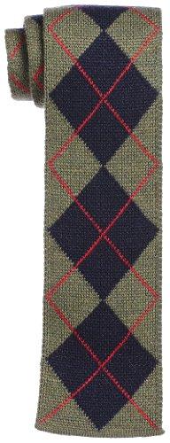 Wool Knit Tie 118-28-0062: Navy Argyle
