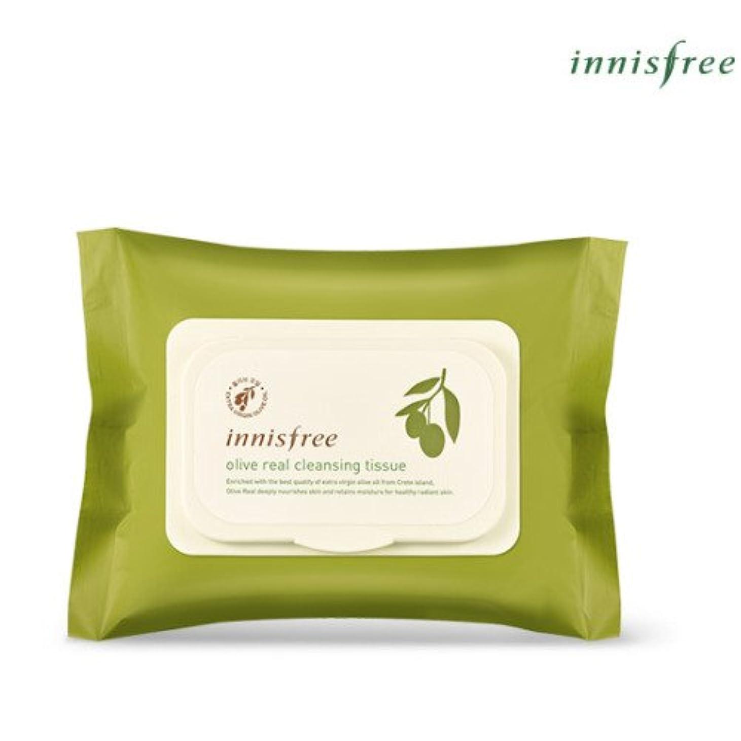の貧困亜熱帯[INNISFREE]イニスフリーオリーブリアルクレンジングティッシュ30個入olive real cleansing tissue 30pcs [並行輸入品]